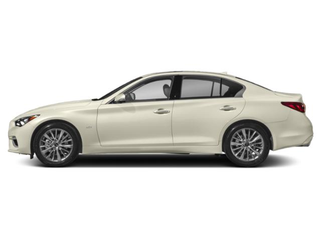 Majestic White 2018 INFINITI Q50 Pictures Q50 3.0t LUXE AWD photos side view