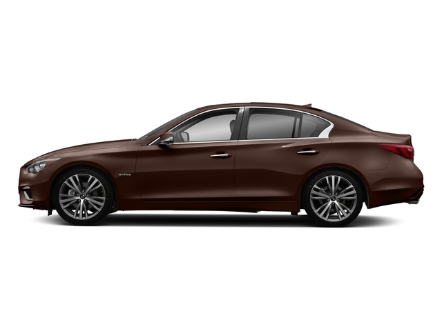 Mocha Almond 2018 INFINITI Q50 Pictures Q50 Hybrid LUXE RWD photos side view