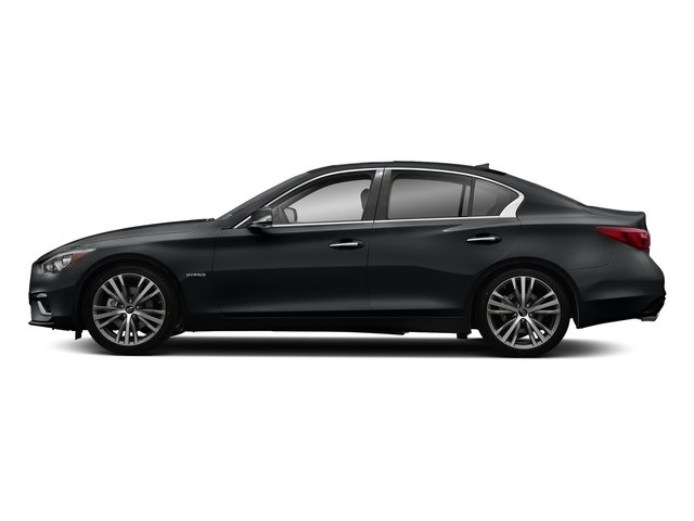 Midnight Black 2018 INFINITI Q50 Pictures Q50 Hybrid LUXE RWD photos side view