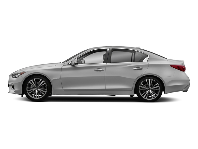 Liquid Platinum 2018 INFINITI Q50 Pictures Q50 Hybrid LUXE RWD photos side view