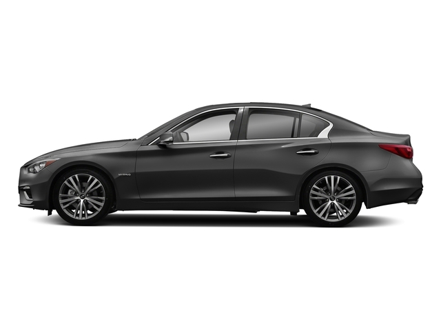 Graphite Shadow 2018 INFINITI Q50 Pictures Q50 Hybrid LUXE RWD photos side view