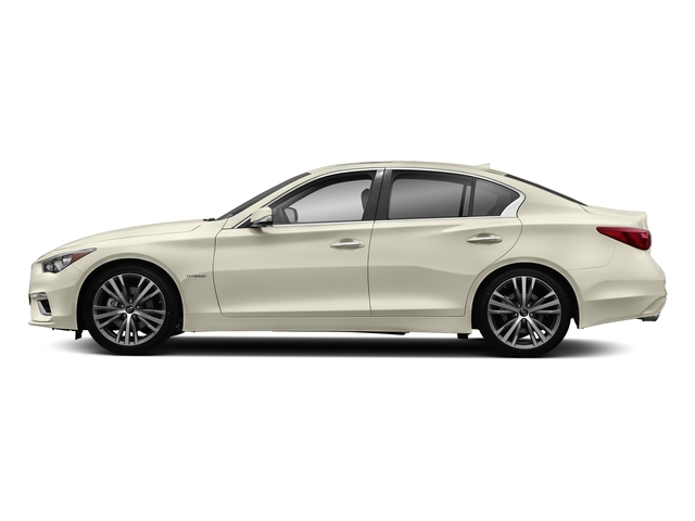 Majestic White 2018 INFINITI Q50 Pictures Q50 Hybrid LUXE RWD photos side view