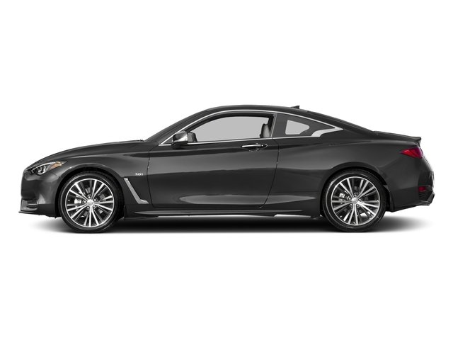 Graphite Shadow 2018 INFINITI Q60 Pictures Q60 3.0t LUXE RWD photos side view