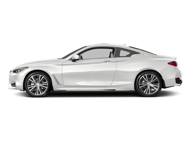 Pure White 2018 INFINITI Q60 Pictures Q60 3.0t LUXE RWD photos side view