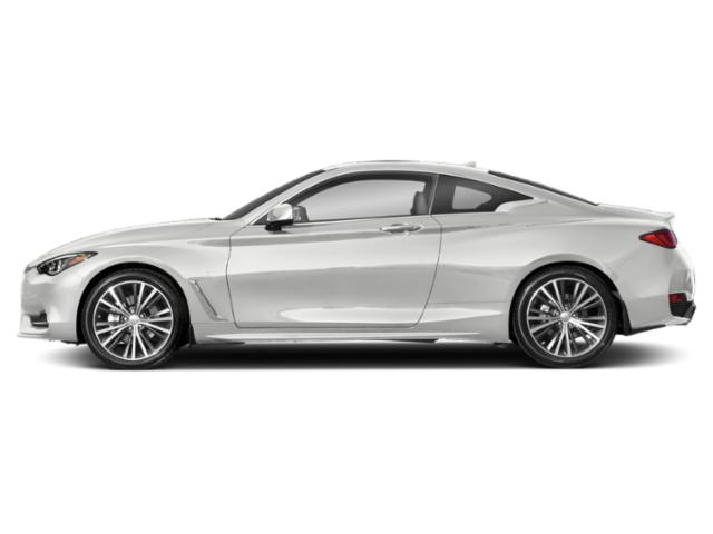 Pure White 2018 INFINITI Q60 Pictures Q60 Coupe 2D 3.0T Luxe photos side view