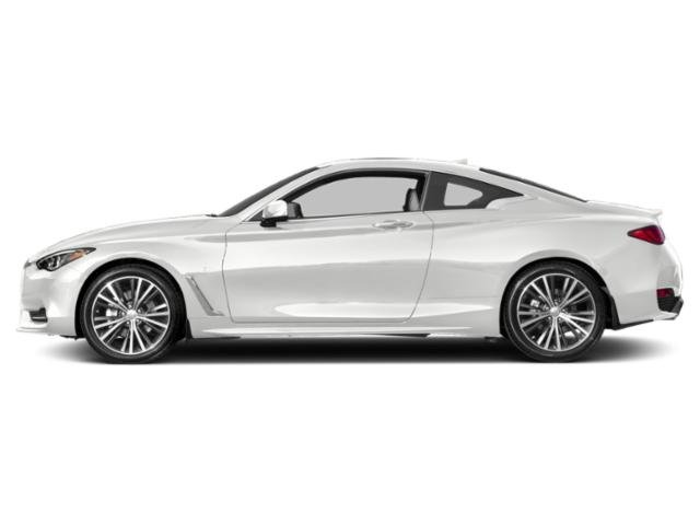 Pure White 2018 INFINITI Q60 Pictures Q60 2.0t LUXE AWD photos side view