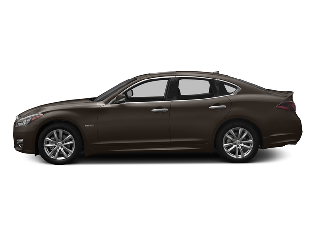 Chestnut Bronze 2018 INFINITI Q70 Pictures Q70 Hybrid LUXE RWD photos side view