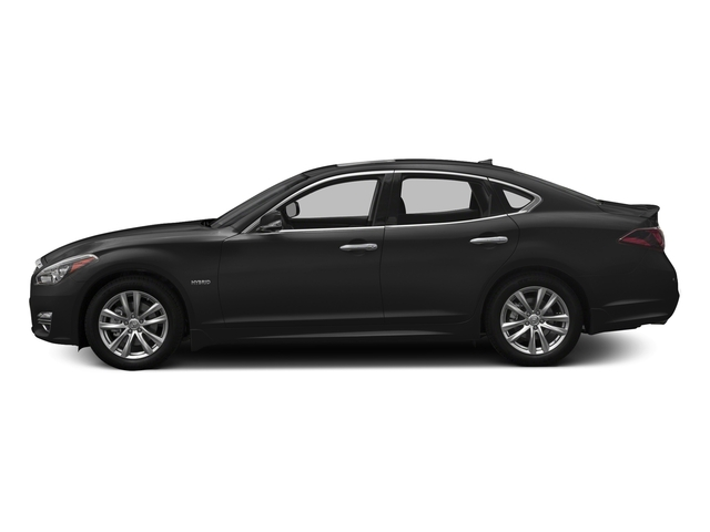 Graphite Shadow 2018 INFINITI Q70 Pictures Q70 Hybrid LUXE RWD photos side view