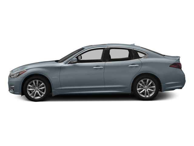 Hagane Blue 2018 INFINITI Q70 Pictures Q70 Hybrid LUXE RWD photos side view