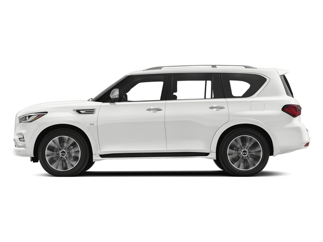 Moonstone White 2018 INFINITI QX80 Pictures QX80 AWD photos side view