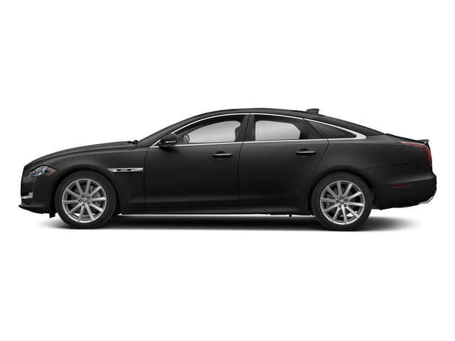 Santorini Black Metallic 2018 Jaguar XJ Pictures XJ XJ Supercharged RWD photos side view