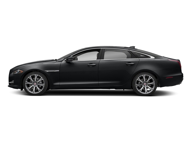 Santorini Black Metallic 2018 Jaguar XJ Pictures XJ XJL Portfolio RWD photos side view