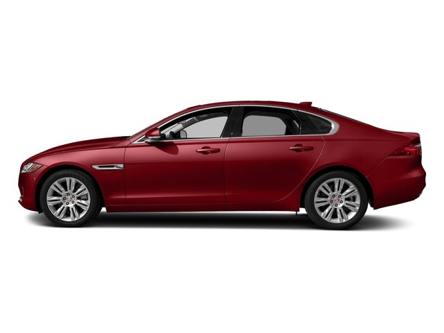 Firenze Red Metallic 2018 Jaguar XF Pictures XF Sedan 25t Premium AWD photos side view
