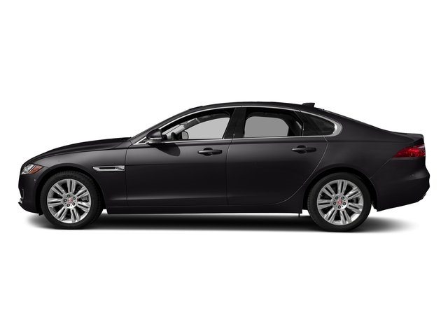 Santorini Black Metallic 2018 Jaguar XF Pictures XF Sedan 25t Premium AWD photos side view
