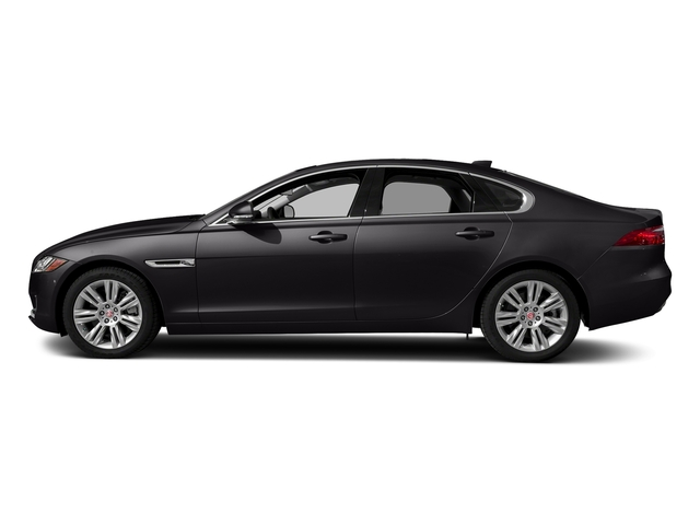 Santorini Black Metallic 2018 Jaguar XF Pictures XF Sedan 20d Premium AWD photos side view