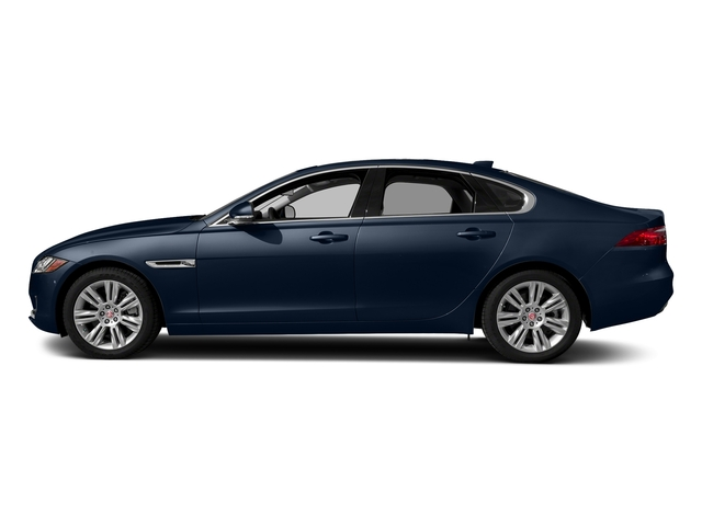 Loire Blue Metallic 2018 Jaguar XF Pictures XF Sedan 30t Premium RWD photos side view