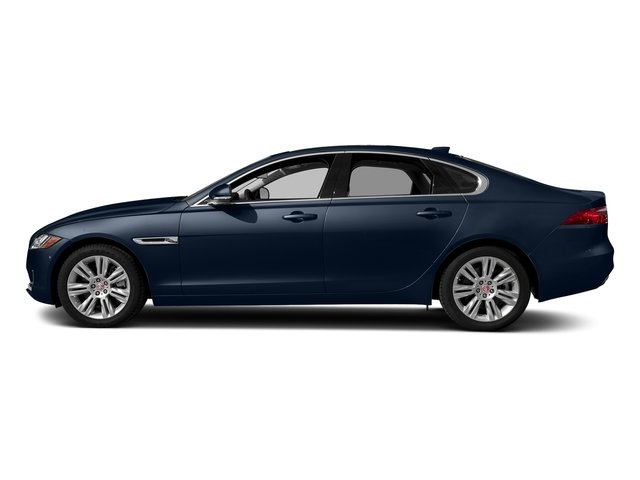 Loire Blue Metallic 2018 Jaguar XF Pictures XF Sedan 20d Premium AWD photos side view