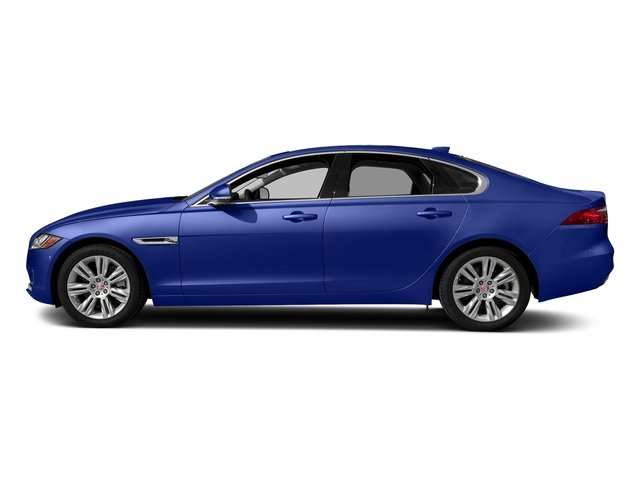 Caesium Blue Metallic 2018 Jaguar XF Pictures XF Sedan 20d Premium AWD photos side view