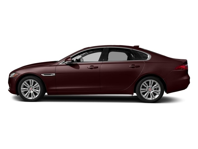 Rossello Red Metallic 2018 Jaguar XF Pictures XF Sedan 25t Premium AWD photos side view