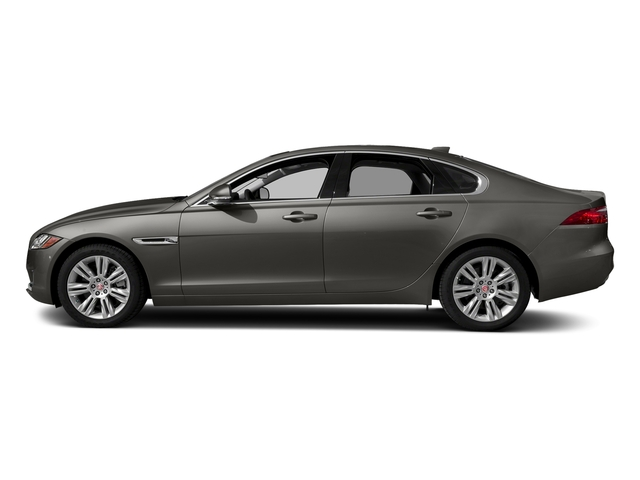Silicon Silver 2018 Jaguar XF Pictures XF Sedan 25t Premium AWD photos side view