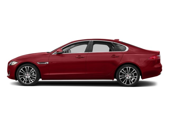 Firenze Red Metallic 2018 Jaguar XF Pictures XF Sedan 25t Prestige AWD photos side view