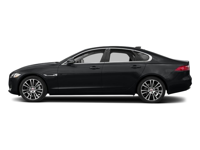 Santorini Black Metallic 2018 Jaguar XF Pictures XF Sedan 35t Prestige AWD *Ltd Avail* photos side view