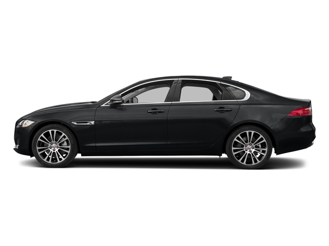 Santorini Black Metallic 2018 Jaguar XF Pictures XF Sedan 30t Prestige RWD photos side view