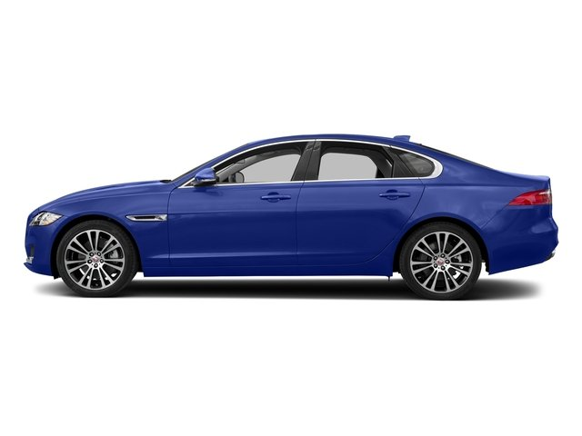 Caesium Blue Metallic 2018 Jaguar XF Pictures XF Sedan 20d Prestige AWD photos side view