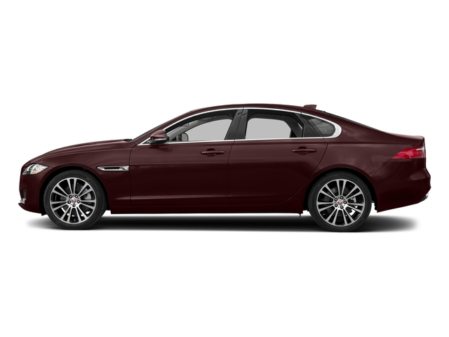 Rossello Red Metallic 2018 Jaguar XF Pictures XF Sedan 20d Prestige AWD photos side view