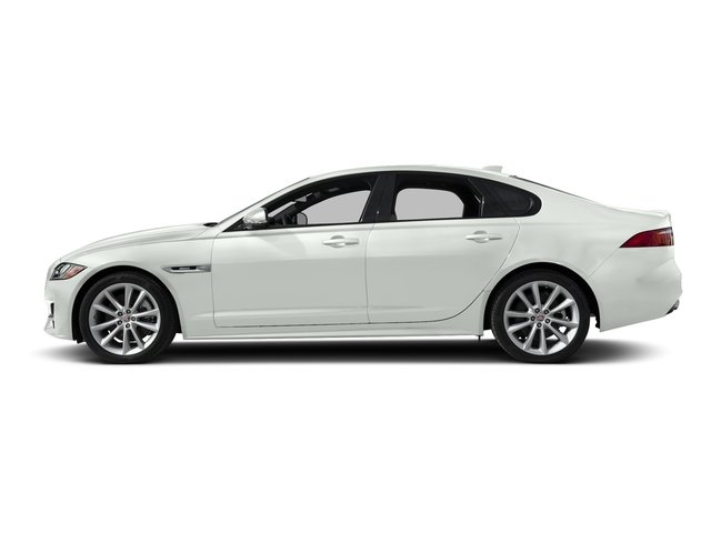 Fuji White 2018 Jaguar XF Pictures XF Sedan 25t R-Sport RWD photos side view