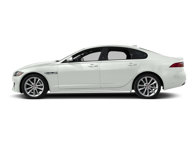 Fuji White 2018 Jaguar XF Pictures XF Sedan 25t R-Sport AWD photos side view