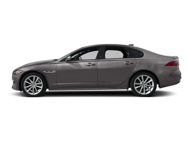Corris Grey Metallic 2018 Jaguar XF Pictures XF Sedan 35t R-Sport AWD *Ltd Avail* photos side view