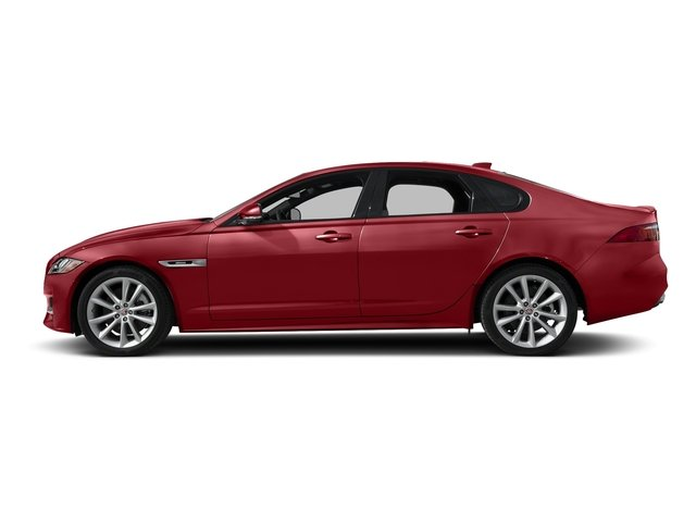 Firenze Red Metallic 2018 Jaguar XF Pictures XF Sedan 35t R-Sport AWD *Ltd Avail* photos side view