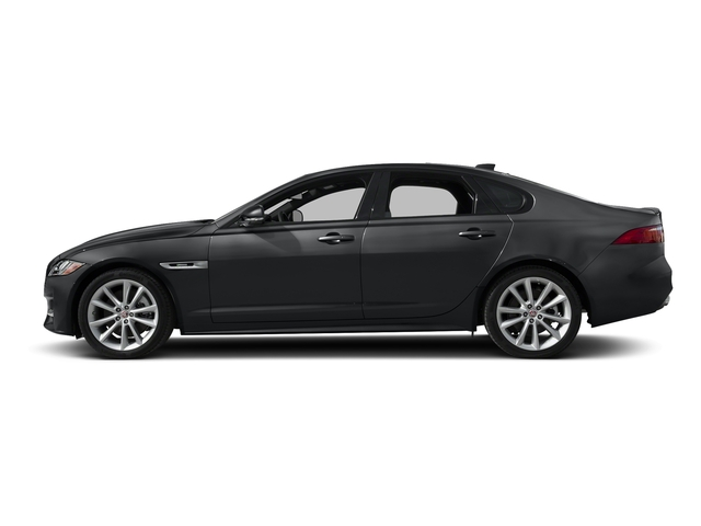 Santorini Black Metallic 2018 Jaguar XF Pictures XF Sedan 35t R-Sport AWD *Ltd Avail* photos side view