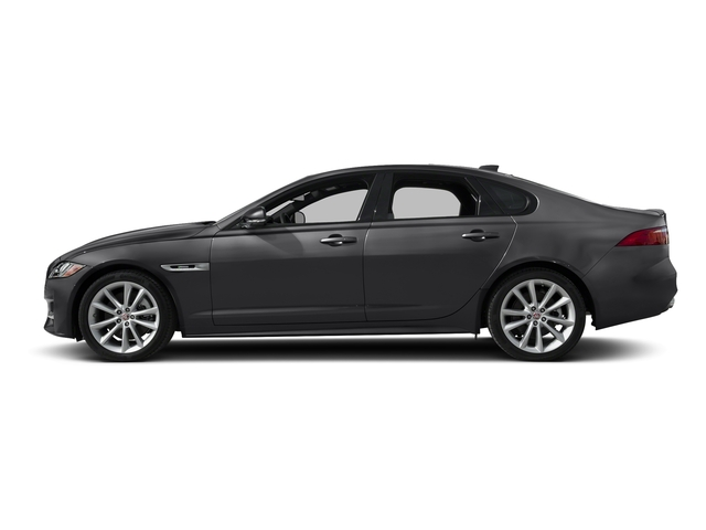 Carpathian Grey 2018 Jaguar XF Pictures XF Sedan 35t R-Sport AWD *Ltd Avail* photos side view