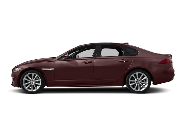 Rossello Red Metallic 2018 Jaguar XF Pictures XF Sedan 35t R-Sport AWD *Ltd Avail* photos side view