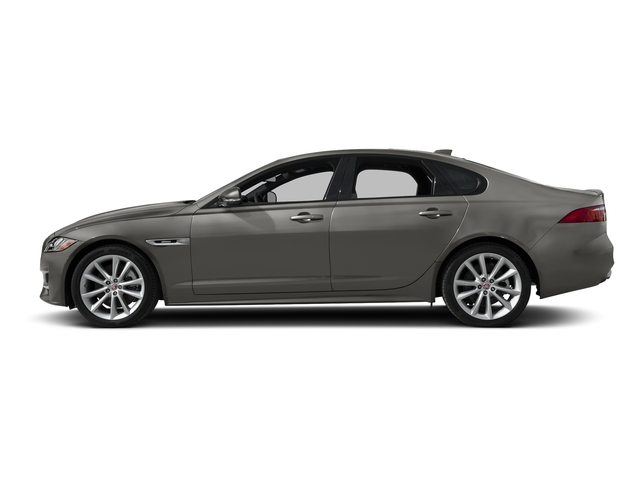 Silicon Silver 2018 Jaguar XF Pictures XF Sedan 35t R-Sport AWD *Ltd Avail* photos side view