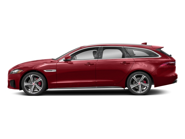 Firenze Red Metallic 2018 Jaguar XF Pictures XF Sportbrake First Edition AWD photos side view