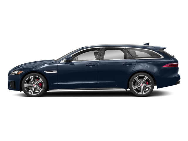 Loire Blue Metallic 2018 Jaguar XF Pictures XF Sportbrake First Edition AWD photos side view