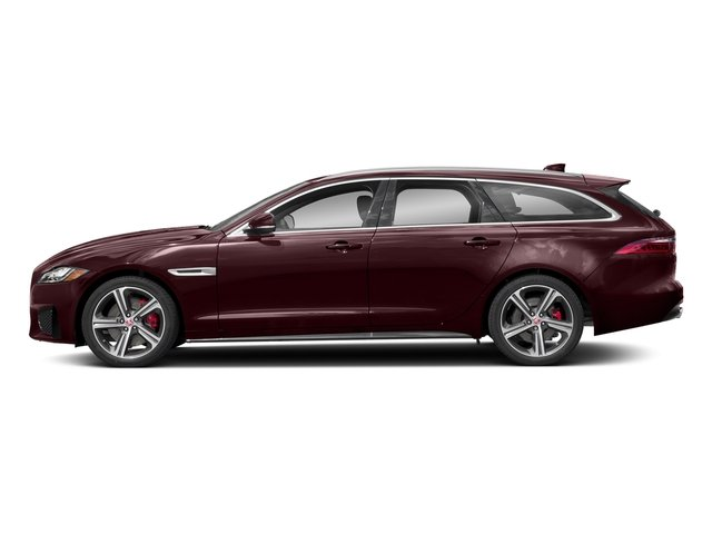 Rossello Red Metallic 2018 Jaguar XF Pictures XF Sportbrake First Edition AWD photos side view