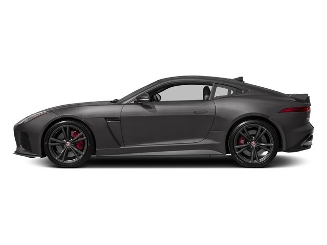 Corris Grey Metallic 2018 Jaguar F-TYPE Pictures F-TYPE Coupe Auto SVR AWD photos side view