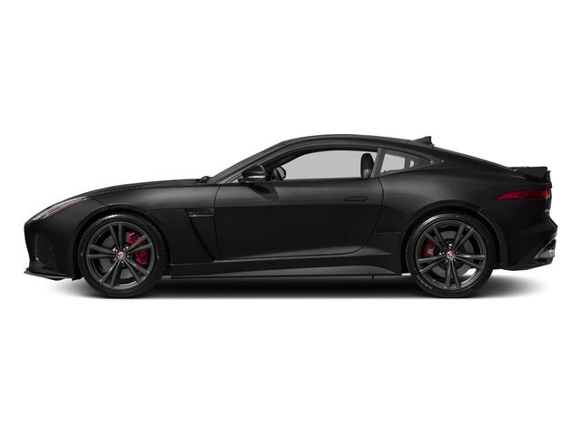Santorini Black Metallic 2018 Jaguar F-TYPE Pictures F-TYPE Coupe Auto SVR AWD photos side view