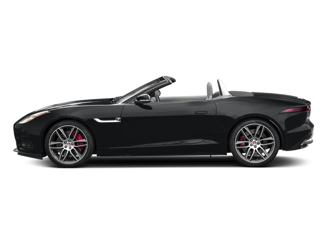 Santorini Black Metallic 2018 Jaguar F-TYPE Pictures F-TYPE Convertible Auto 380HP AWD photos side view
