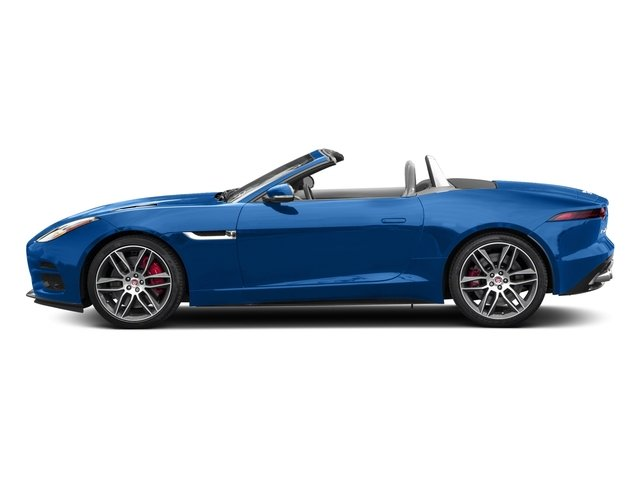 Ultra Blue Metallic 2018 Jaguar F-TYPE Pictures F-TYPE Convertible Auto 380HP AWD photos side view