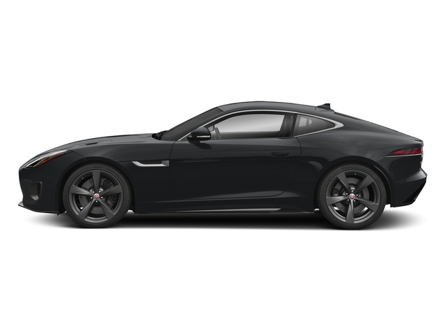 Santorini Black Metallic 2018 Jaguar F-TYPE Pictures F-TYPE Coupe Auto 400 Sport photos side view