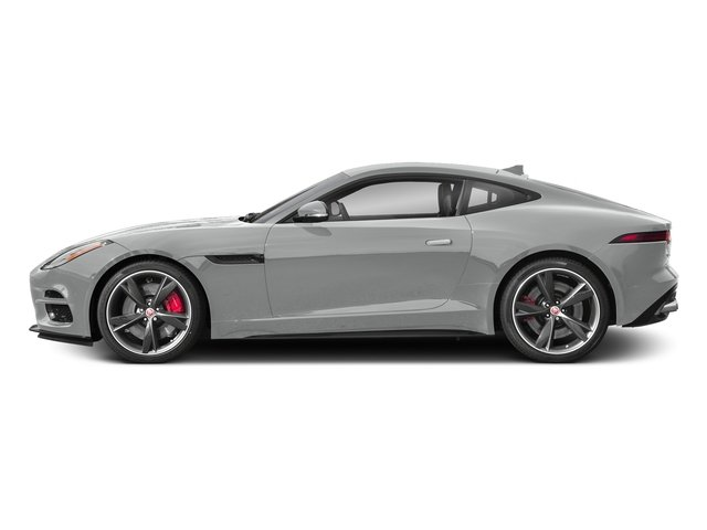 Indus Silver Metallic 2018 Jaguar F-TYPE Pictures F-TYPE Coupe Auto R-Dynamic AWD photos side view
