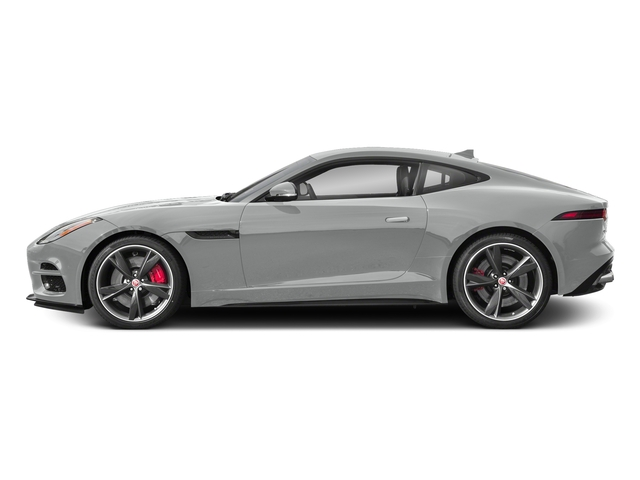 Indus Silver Metallic 2018 Jaguar F-TYPE Pictures F-TYPE Coupe Auto 340HP photos side view