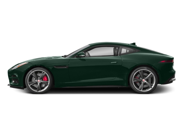 British Racing Green Metallic 2018 Jaguar F-TYPE Pictures F-TYPE Coupe Auto R-Dynamic AWD photos side view