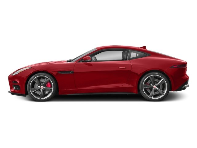 Caldera Red 2018 Jaguar F-TYPE Pictures F-TYPE Coupe Auto R-Dynamic AWD photos side view