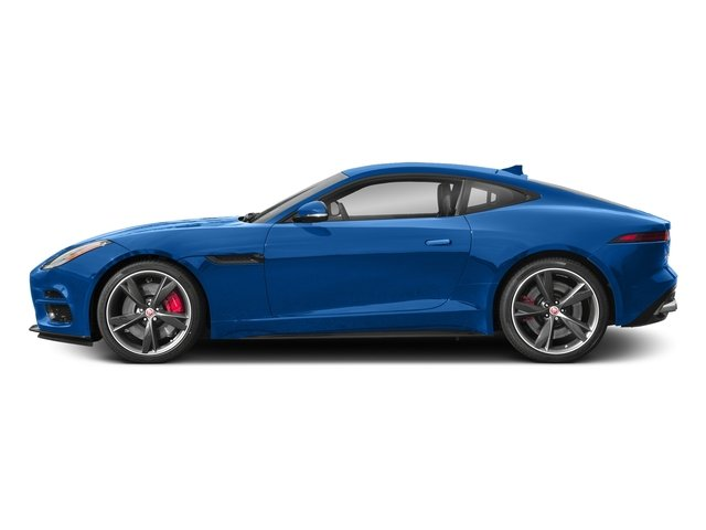 Ultra Blue Metallic 2018 Jaguar F-TYPE Pictures F-TYPE Coupe Auto R-Dynamic AWD photos side view